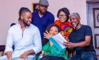 TCL behind-the-scenes: Teddy A, Regina Chukwu, Nkechi Sunday on set of 'Unsane'