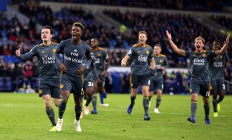 Iwobi inspires Arsenal as Leicester win to honour late chairman