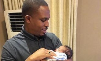 'It's a hat-trick': Naeto C, Nicole Chikwe welcome third child