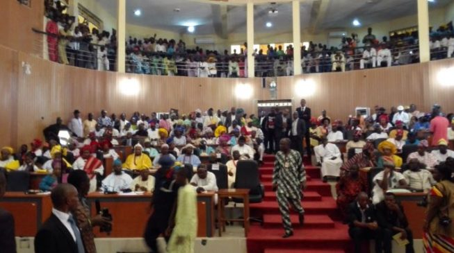 Image result for Chaos as Ondo assembly removes speaker, deputy