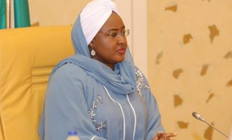 EXTRA: 'It's a great lost' — Aisha Buhari goofs in condolence message to Ajimobi's family