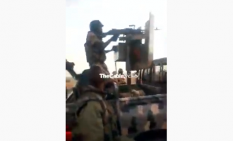 VIDEO: Boko Haram bows to soldiers' superior firepower, abandons gun truck