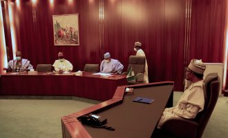 Buhari meets governors over APC crisis