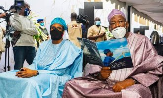 PHOTOS: Ganduje, wife attend Ajimobi's 40th day Fidau prayer