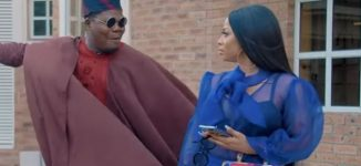 VIDEO: Toke Makinwa stuns Mr Macaroni in 'Benefit Papa' skit